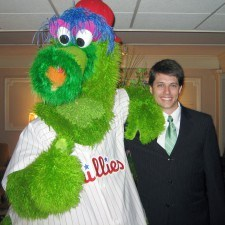 Justin Weeks, Sales Manager welcomes the Phanatic to The Radnor Hotel