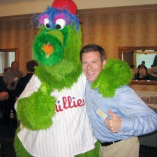 Phillie Phanatic and a Phillies Fan!