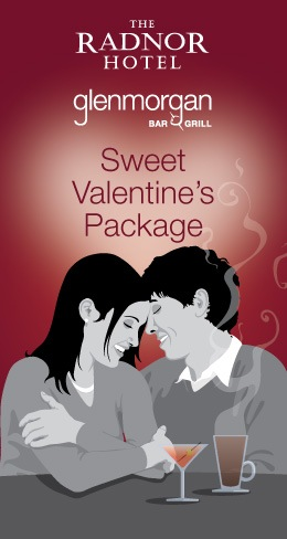 sweet valentines day package prix fixe the radnor hotel