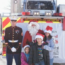 Santa with Staff Sergeant Wilson and family
