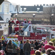 Santas arrival at Wayne Hotel