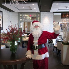 Santa takes a tour of main lines' newest restaurant, Paramour