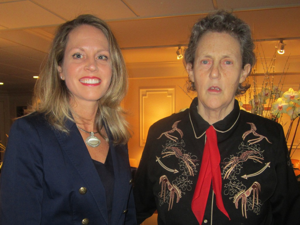 Director of Sales, Kimberly Neeb, welcomes Temple Grandin to The Radnor Hotel