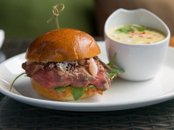 Grilled Ribeye Sandwich at Paramour, Wayne Hotel Restaurant