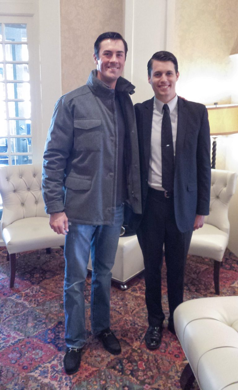 Cole Hamels, World Series MVP Pitcher for the Philadelphia Phillies and Justin Weeks, Assistant General Manager