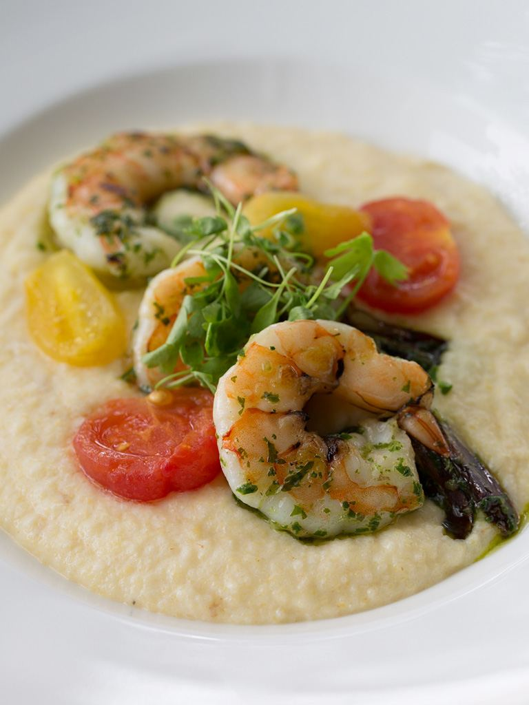 ... shrimp and grits get comfortable with a bowl of gourmet grits made