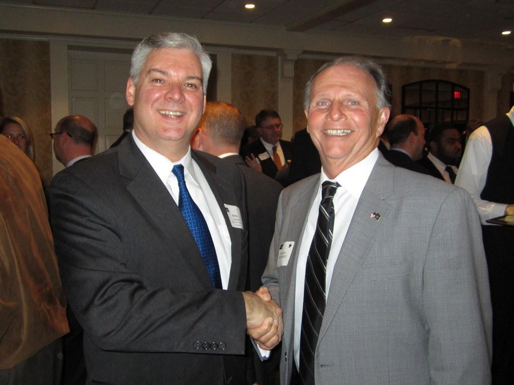Bernard Dagenais, President and CEO of Main Line Chamber of Commerce and Representative William Adolph