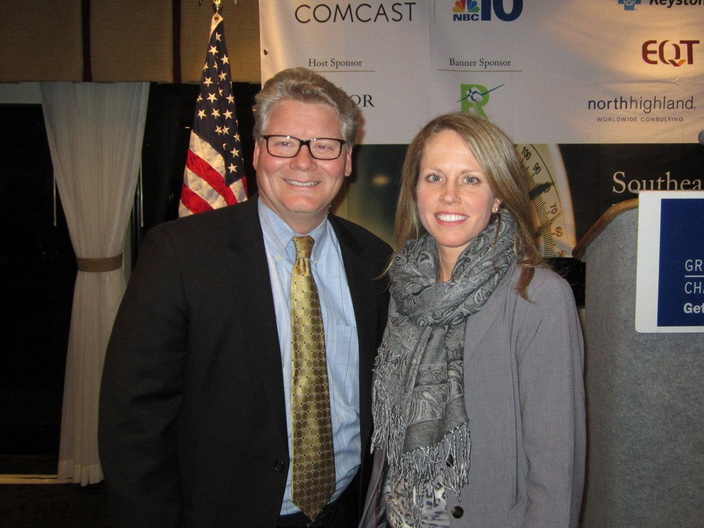Kimberly Neeb, Director Of Sale for The Radnor Hotel and Rob Wonderling, President and CEO of Philadelphia Chamber of Commerce
