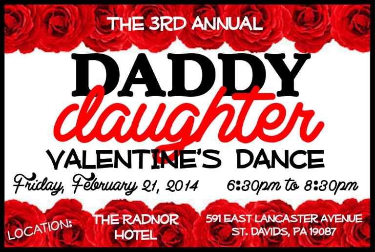 The 3rd Annual Daddy Daughter Valentine S Dance At The Radnor The