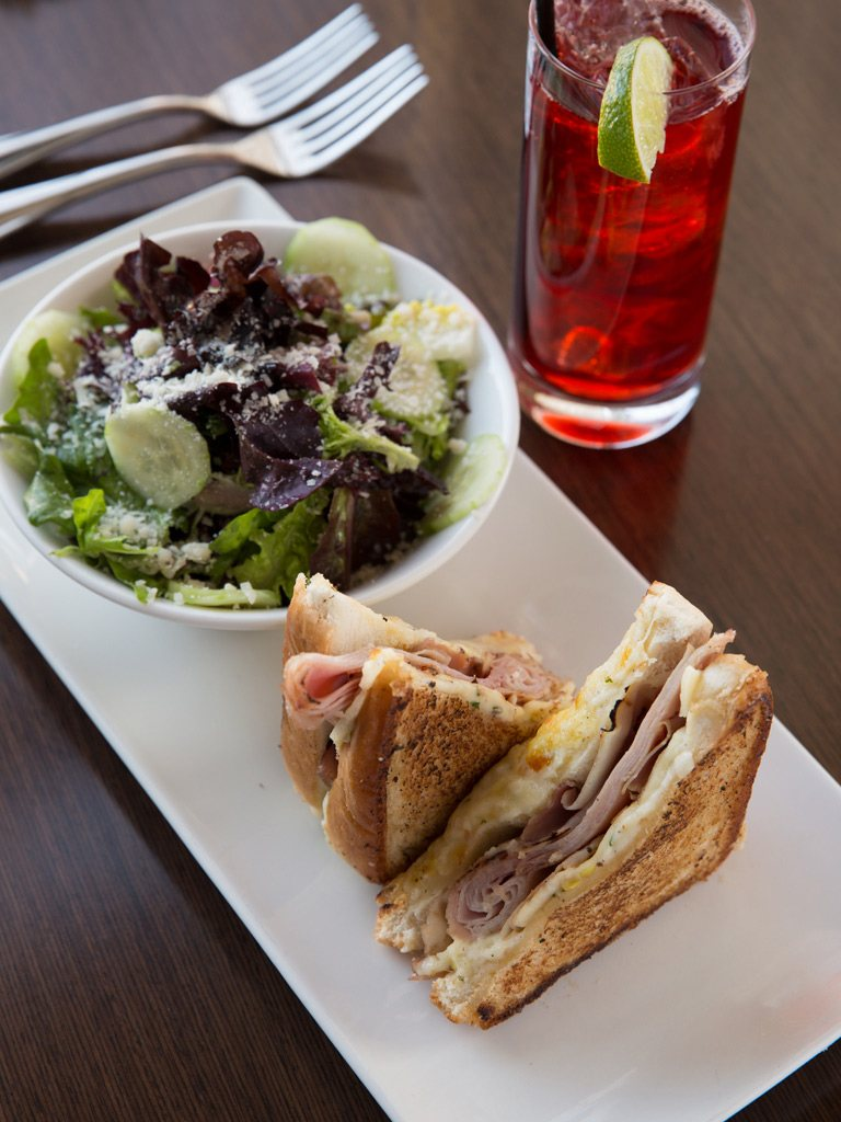 Croque Monsieur with side salad at Paramour