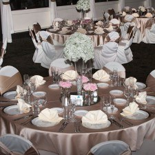 The Grand Terrace Ballroom all dressed up for the Wedding Open House at The Radnor, Photo Credit: Larmon Studios