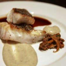 Chef Drew's Pan seared Black Sea Bass at Wayne Art Center's Tastes of the Town
