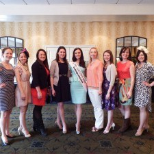 2013 Philadelphia Rose of Tralee, Brittany Killion with 2014 Rose contestants and past Philadelphia Roses