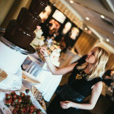 The Radnor's Famous Premium Belgian Chocolate Fountain at February's Main Line Bridal Event