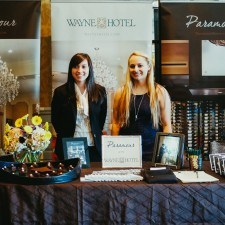 Grace and Nicole represented Paramour and the Wayne Hotel at February's Main Line Bridal Event