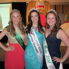 2014 Philadelphia Mary from Dungloe, Kelly Devine, 2014 Philadelphia Rose Of Tralee, Brittany Killion, and Miss Mayo 2014, Erin Carroll