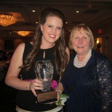 Aisling Travers, Winner of the 2014 Mary O'Connor Spirit Award with Mary Conaghan