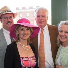 Steve and Kathy Bajus (owners of Wayne Hotel and Paramour), Peter and Suzanne Siebert