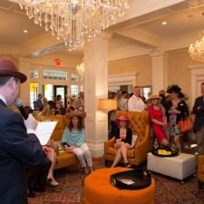 David Brennan (General Manager of Wayne Hotel) Announcing the Men's Best Dressed Winners