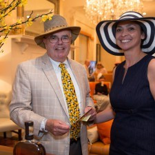 Men's Best Dressed 1st Place Winner David Toomey, Anita Sayers (VP Marketing of The Radnor & Wayne Hotel)
