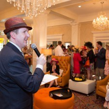 David Brennan (General Manager of Wayne Hotel) Announcing the Women's Best Dressed Winners