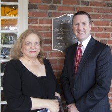 Lauren Lipton, Senior Editor of KYW Newsradio 1060, and David Brennan, General Manager of the Wayne Hotel