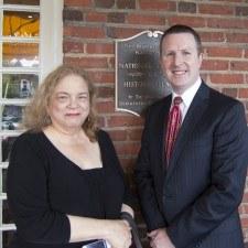 Lauren Lipton, Senior Editor of KYW Newsradio 1060, and David Brennan, General Manager of the Wayne Hotel