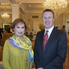 Meryl Levitz, President and CEO of Visit Philadelphia, and David Brennan, General Manager of the Wayne Hotel