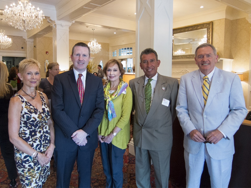 Diane Jiorle, President of the Wayne Business Association, David Brennan, General Manager of the Wayne Hotel, Meryl Levitz, President and CEO of Visit Philadelphia, Tore Fiore, Executive Director of Delaware County's Brandywine CVB, and Lou Prevost, Senior Vice President of the Wayne Hotel and The Radnor Hotel