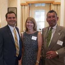 Bryan Messick, Chairman of Media Business Authority, Lucy Wright of Delaware County's Brandywine CVB, and Tore Fiore, Executive Director of Delaware County's Brandywine CVB