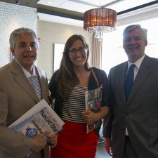 JB Braun, Publisher of Main Line Today, Angela Corrado, Director of Marketing and Sales at The Town Dish, and Bernard Dagenais, President and Chief Executive Officer at Main Line Chamber of Commerce