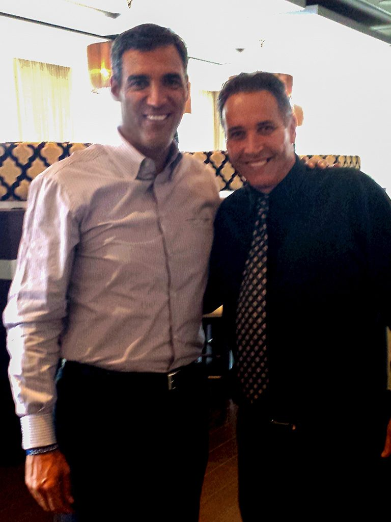 Jay Wright, Head Coach of the Villanova University Men's Basketball Team, and Joseph Amrani, General Manager of Paramour