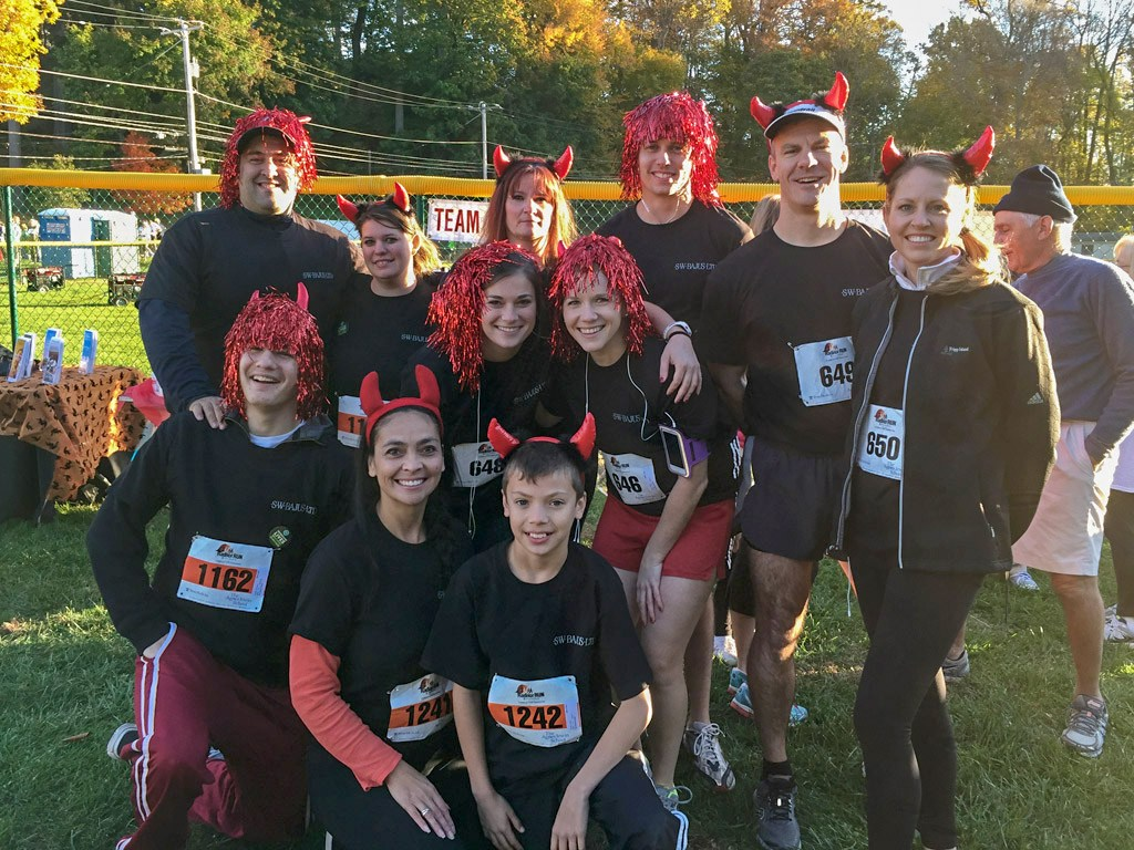 The Radnor Red Racers: Back row (left to right): Nicholas Catapasto, Christine Castle, Julie Castle, Justin Weeks, Alex Neeb, Kimberly Neeb; Middle row (left to right): Julie Moran, Holly Allen; Front row (left to right): Nicholas Castle, Anita Sayers, Collin Sayers