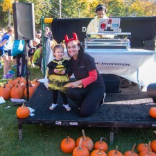Little Miss Bumble Bee, Winner of the Best Dressed Costume Contest, and Anita Sayers (The Radnor Hotel)