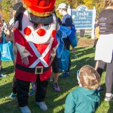The Toy Soldier greeting participants