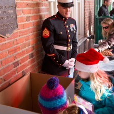 Giving back to Toys for Tots at Wayne Hotel's Old Fashioned Christmas