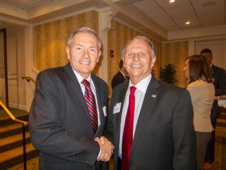 Lou Prevost, Senior Vice President & General Manager of The Radnor Hotel, and Representative William Adolph