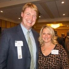 Joseph McGinn of Sunoco and Heather Cevasco of Senator Chuck McIlhinney's Office