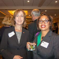 Kathy Levins of Temple University and Rochelle Culbreath of SEPTA