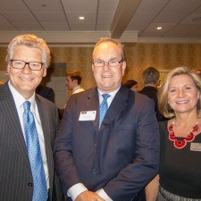 Rob Wonderling of the Greater Philadelphia Chamber of Commerce, Representative John Taylor, and Pam McCormick of the Greater Philadelphia Chamber of Commerce