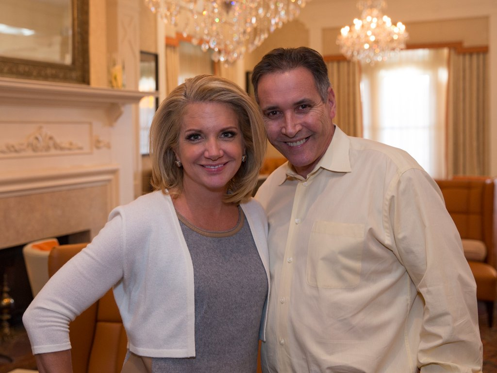 Tracy Davidson of NBC10 News Today and Joseph Amrani, General Manager of Paramour, pictured in Paramour's Lobby Lounge at the Wayne Hotel