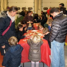 Crafts at Radnor Fire House during Wayne Hotel's Old Fashioned Christmas