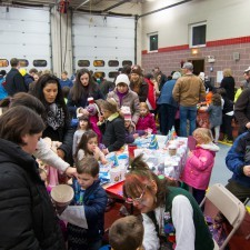 Lots of ornament decorating and face painting took place at the Radnor Fire House on Friday