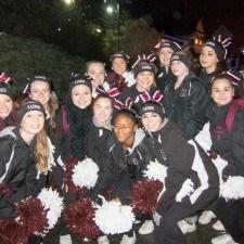 The Radnor High School Cheerleaders spread Christmas Spirit