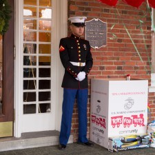 Guests brought toys to donate to The Marine Toys for Tots Foundation