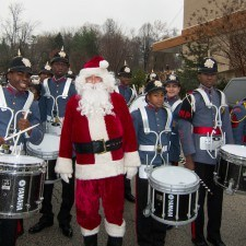 The Valley Forge Military Academy Drummers were one of the featured performances in the Santa Parade