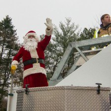 Santa waved to excited parade-goers