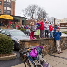 Everyone waited in wonderment for Saint Nick to appear