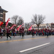 Radnor High School's Marching Band entertained the crowd during the Santa Parade