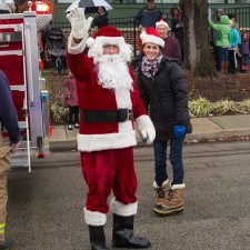 Santa headed to the Wayne Hotel's Veranda to meet the little ones